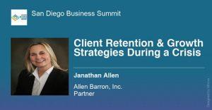 Jan Allen Speaking San Diego Business Summit Jan 2021